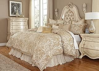 Michael Amini Luxembourg 13 Piece Comforter, King, Creme