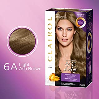 Clairol Age Defy Permanent Hair Color, 6A Light Ash Brown, 1 Count