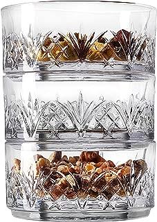 Godinger Snack Bowls, Stackable Nut Bowl Set of 3 - Dublin Collection