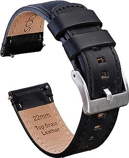 سوار ساعة 22 مم من جادجيت رابس مع إطلاق سريع - حزام جلدي (أعلى الحببة) لهواتف سامسونج G2، G3، جير ، جالاكسي أند فرونتير بل...