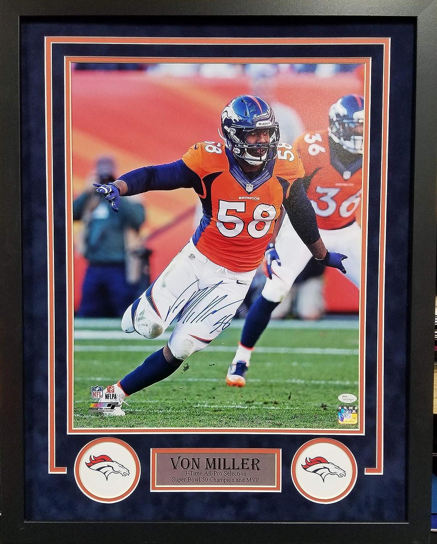 Von Miller Denver Challenge the lowest price Broncos Signed Photo S Framed Custom Autograph Nashville-Davidson Mall