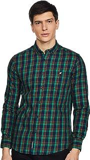 Amazon Brand - House & Shields Men's Checkered Regular fit Casual Shirt (SS20-HS-RR-01-H_