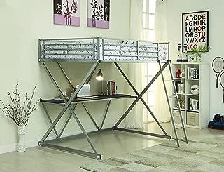 Coaster Full Workstation Loft Bed, Silver