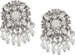 Marchesa - Lighter Than Air Cluster Button Earrings