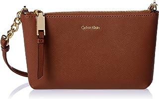 Calvin Klein women Hayden Saffiano Crossbody, Luggage, One Size