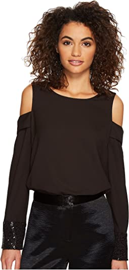kensie - Smooth Stretch Crepe Top KSDK4357