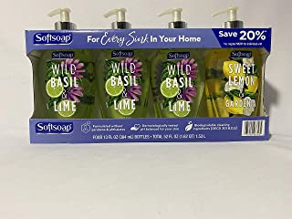 Sofftsoap Liquid hand soap variety pack. 13oz, 4pk