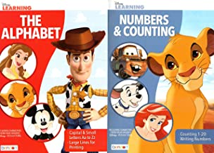Numbers and Counting / The Alphabet - Disney Adventures in Learning Educational Activity Workbook - Set of 2 Books