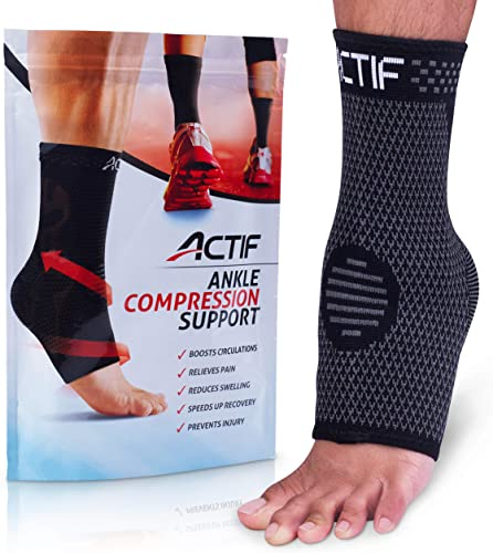 new arrival Actif Sports Ankle Compression Sleeve 2021 - Breathable Ankle Support to Speed Up Recovery, Prevent Injury, Reduce Swelling, Achilles Tendon and Plantar outlet online sale Fasciitis Support, and More (Medium US Size 6-10) online