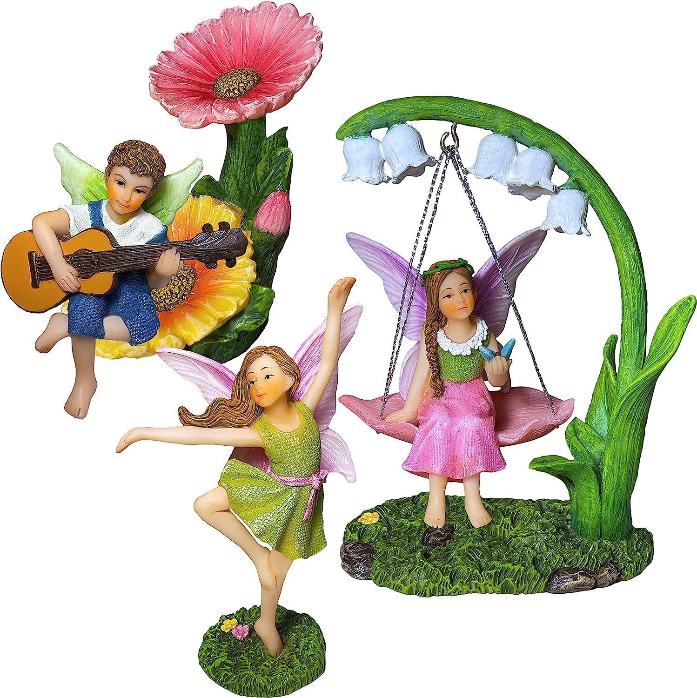 Fairy Garden - Dancing Swing Accessories Kit of 5 pcs - Miniature Garden Figurines Set
