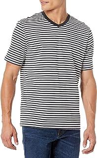 Men's 2-Pack Regular-Fit Short-Sleeve Stripe V-Neck T-Shirts