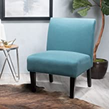 """Christopher Knight Home Kendal Dark Teal Fabric Accent Chair, 29. 50""""D x 22. 50""""W x 32. 00""""H"""