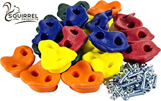 Squirrel Products 20 Extra Large Deluxe Rock Climbing Holds - with Mounting Hardware for up to 1