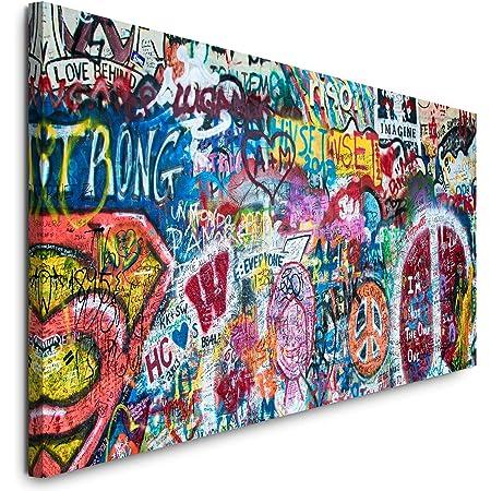 Paul Sinus Art GmbH Impression sur toile panoramique John Lennon - Motif John Lennon - 120 x 50 cm - Format XXL