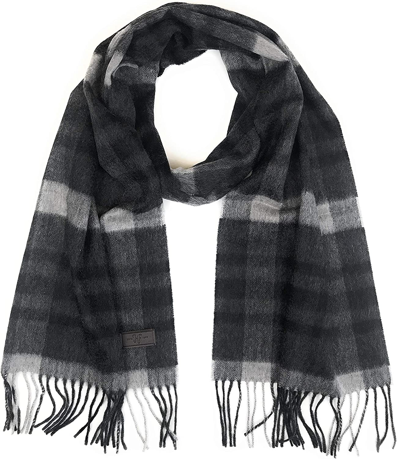 Hickey Freeman Men's Patterned Cashmere Scarf – 100% Italian Cashmere, 66 inches x 12 inches