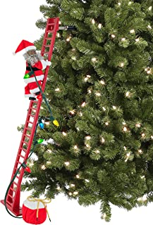 Mr. Christmas - CLIMBING AFRICAN AMER SANTA