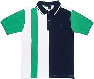 Nautica Boys' Short Sleeve Heritage Polo Shirt, Ballaster Bright Green, 5