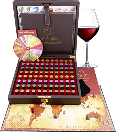 Master Wine Aroma Kit - 88 Wine Aromas (Wine Game & Wine Aroma Wheel Included)