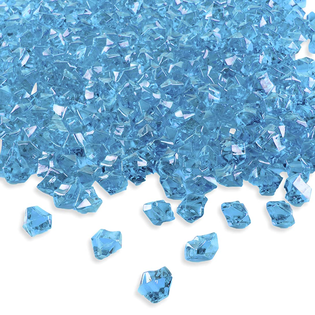 Super Z Outlet Acrylic Color Ice Rock Crystals Treasure Gems for Table Scatters, Vase Fillers, Event, Wedding, Birthday Decoration Favor, Arts & Crafts (385 Pieces) (Blue)
