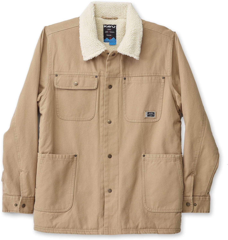 KAVU Engelmann Insulated Button Up Chore Coat Fleece Mens Jacket