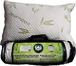 Cuddle-Pedic Adjustable Queen Bamboo Pillow with Shredded Memory Foam Fill, Great for All Sleepers, Certified Safe from Harmful Chemicals and Substances, Hypoallergenic, Washable