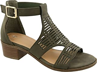 Gayle Cage Caged Strappy Comfortable Classic Cute Casual Sandal for Women Ladies Teens (Assorted Sizes)