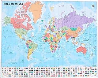 Grupo Erik Editores Mini póster Mapa del Mundo 40 x 50 150 gr