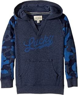Lucky Brand Kids - Long Sleeve V-Neck Camo Hoodie (Little Kids/Big Kids)
