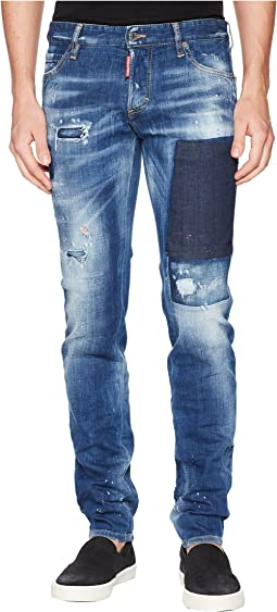 DSQUARED2 - Patch Wash Slim Jeans