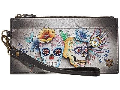 Anuschka Handbags Organizer Credit Card Wristlet Wallet 1151 (Calaveras de Azucar) Bags