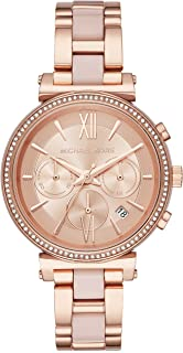 Michael Kors Watches Womens Sofie Rose Gold-Tone Watch