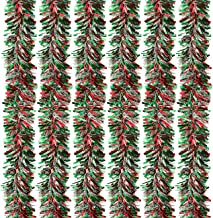Juvale 6-Pack Christmas Tinsel Garland - Multicolored Sparkling Hanging Decoration - Perfect for Xmas and Other Festivitie...