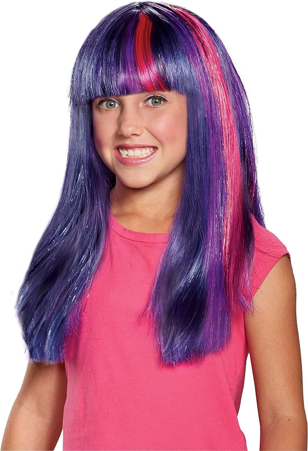 Disguise Twilight Sparkle Movie Child Wig Purple/Sparkle, One Size : Everything Else