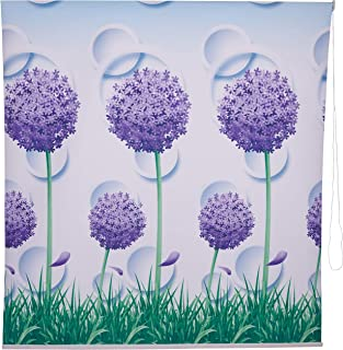 3D Roller Curtain Flowers 180 * 200 cm 8666