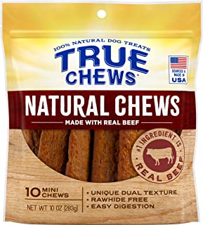 True Chews Natural Chews Made with Real Beef (Mini), 10 oz