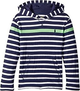 Polo Ralph Lauren Kids - Striped Cotton Hooded T-Shirt (Little Kids/Big Kids)
