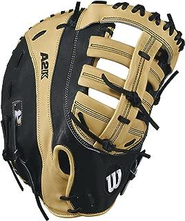 Wilson 2017 A2K 2800 Pro Stock Baseball Glove, Blonde/Black, 12