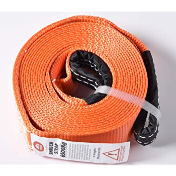 with Hook /& Loop Storage Fastener USA! Tow /& Recovery Strap 2x30 10,000 lb