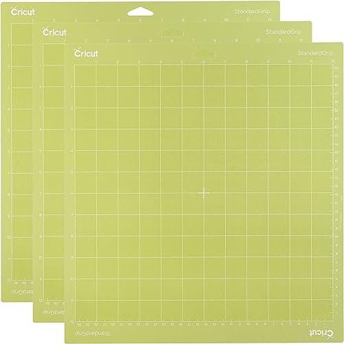 """Cricut 3PACK Standardgrip Cutting Mat 12X12 3 Pack AMZ, 12""""x12"""", Green, 3 Count"""