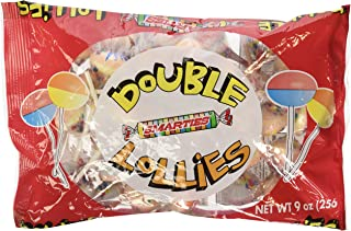 Smarties Double Lollies, 9oz Bag