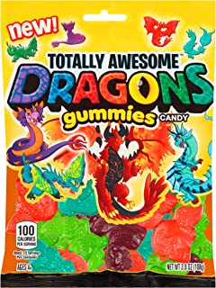 Totally Awesome Dragons Flavored Gummies, Assorted 3.8 Ounce 12.0 Count