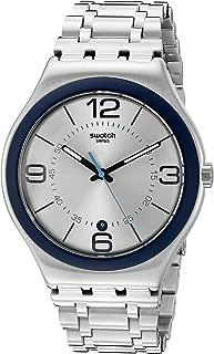 Swatch Unisex YWS413G Cycle Me Analog Display Quartz Silver Watch
