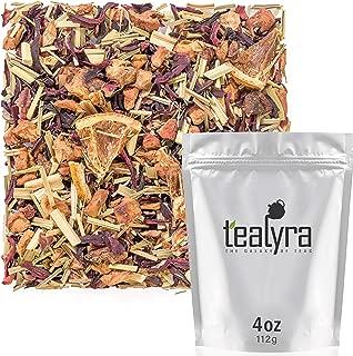 Tealyra - Strawberry Orange Sunrise - Hibiscus Strawberry Lemongrass - Herbal Fruity Loose Leaf Tea - Vitamins and Antioxidants Rich - Low Caffeine - All Natural - 112g (4-ounce)