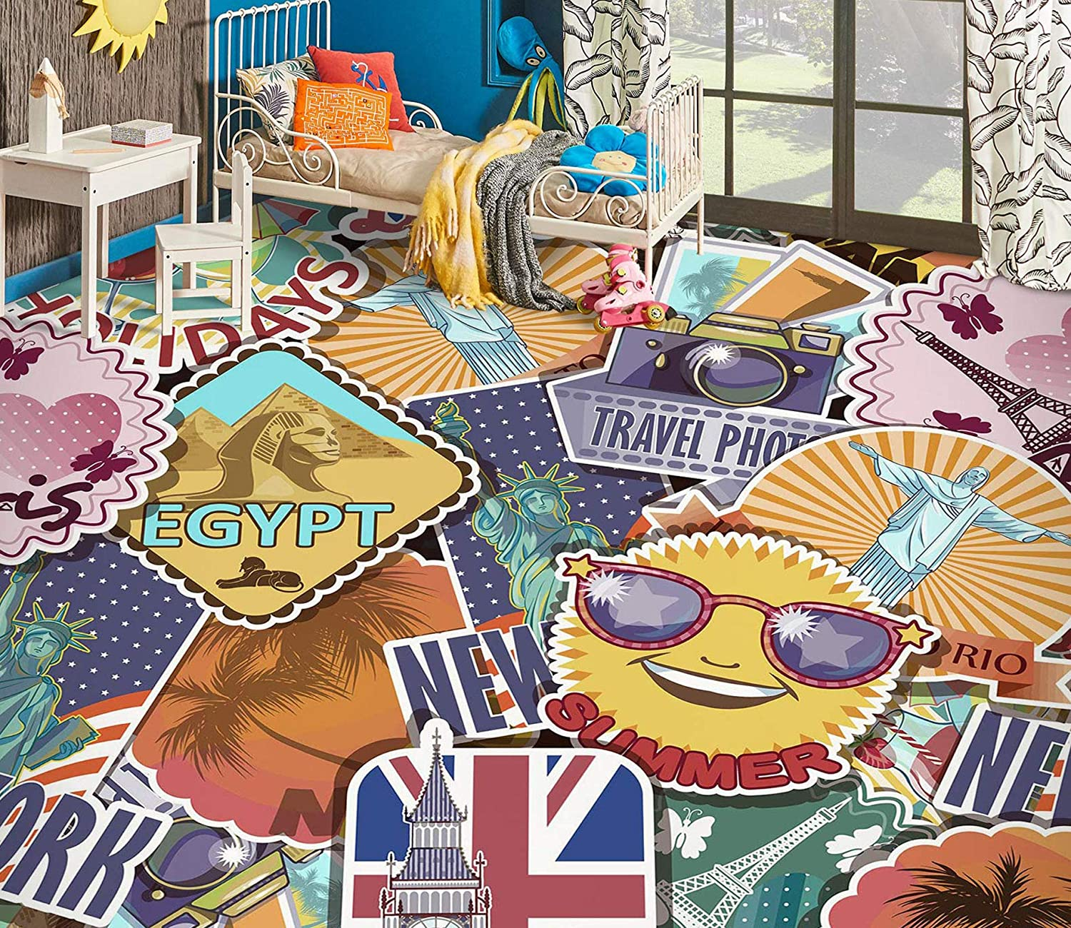 Dallas Mall 3D Stickers 3205 Floor Wallpaper Murals Cheap mail order specialty store AJ Print Wall Decal WALL