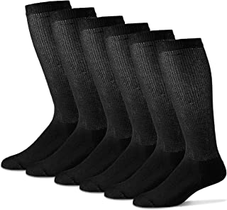 Men's Diabetic Over The Calf Socks - Cotton Blend Physician's Choice Seamless 12 Pack Made In USA
