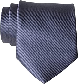 QBSM Mens Solid Polyester Textile Neckties Pure Color Neck Ties for Father's Day Gifts