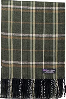 2PLY 100% Cashmere Scarf Elegant Collection Made in Scotland Wool Nova Tartan Plaid