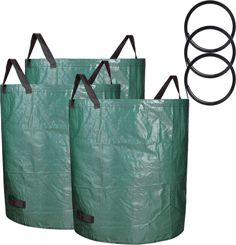 Sarhlio 3-Pack 72 Max 49% OFF Gallons Reusable Duty Garden Nashville-Davidson Mall Waste Bags Heavy