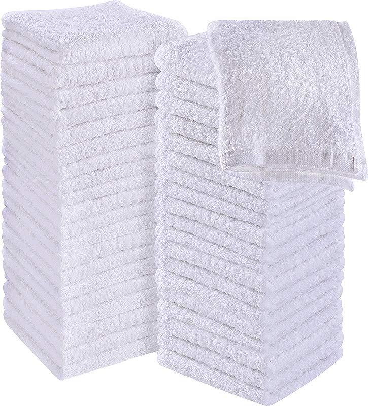 Utopia Towels Cotton Washcloths 60 Pack White