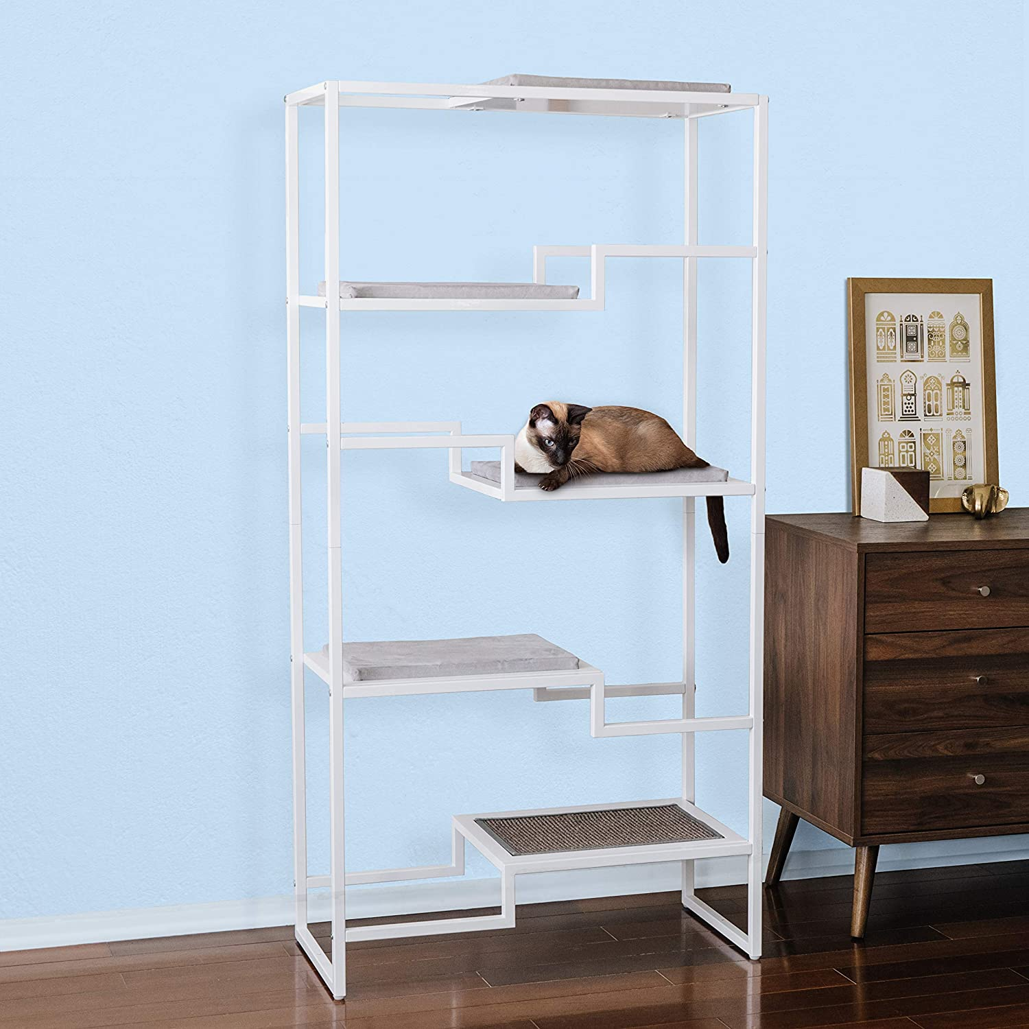 Modern Furniture for Multiple Cats Stepped Platforms for Cats and Kittens THE REFINED FELINE Metropolitan Cat Condo